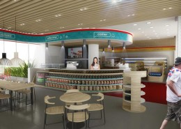 """Combo area"" Coffee Market Concept"