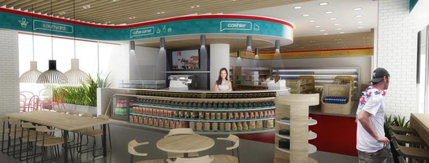 """Combo area"" Coffee Market Concept"