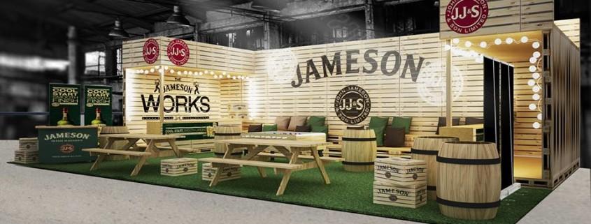 """Κατασκευή εκθεσιακού περιπτέρου  """"Jameson"""" @ Street Food Festival Athens 2016"""